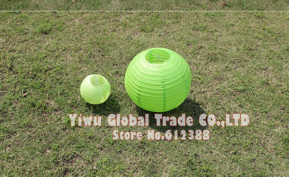 10pc 15 20 25 30 35 40cm 6 16inch Light Green Chinese Paper Lantern For  Wedding Decorations Paper Ball Lampion Shade Party Decor   Us68