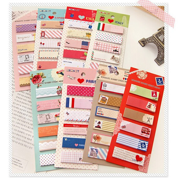 6 sets/lot Cute Mini Memo Pad Sticky Note Kawaii Paper Scrapbooking Sticker Pads Creative Korean Stationery Free shipping 327(China (Mainland))