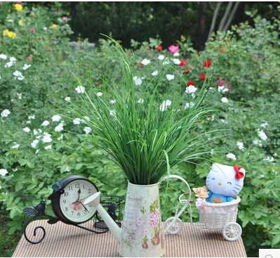 55cm Plastic long grass Artificial Flowers Simulation plant Home Decorative Plastic Plant Green spring grass MA1676