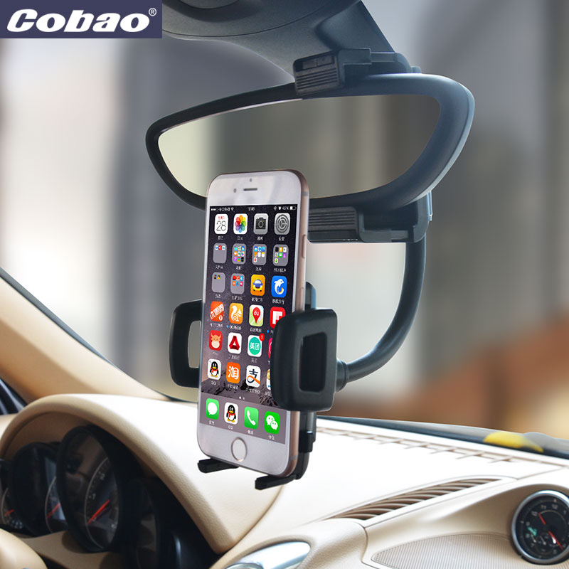 Universal rearview mirror car phone holder Cobao brand smartphone holder stand for Iphone 5s 6 6s plus Galaxy s4 s5 s6 s7 xiaomi(China (Mainland))