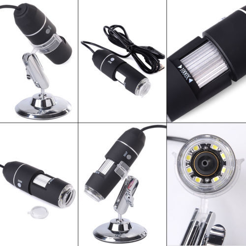 2015 Brand New 8 LED 1000X USB Digital Microscope Endoscope Magnifier With Adjustable Stand Free Shipping(China (Mainland))