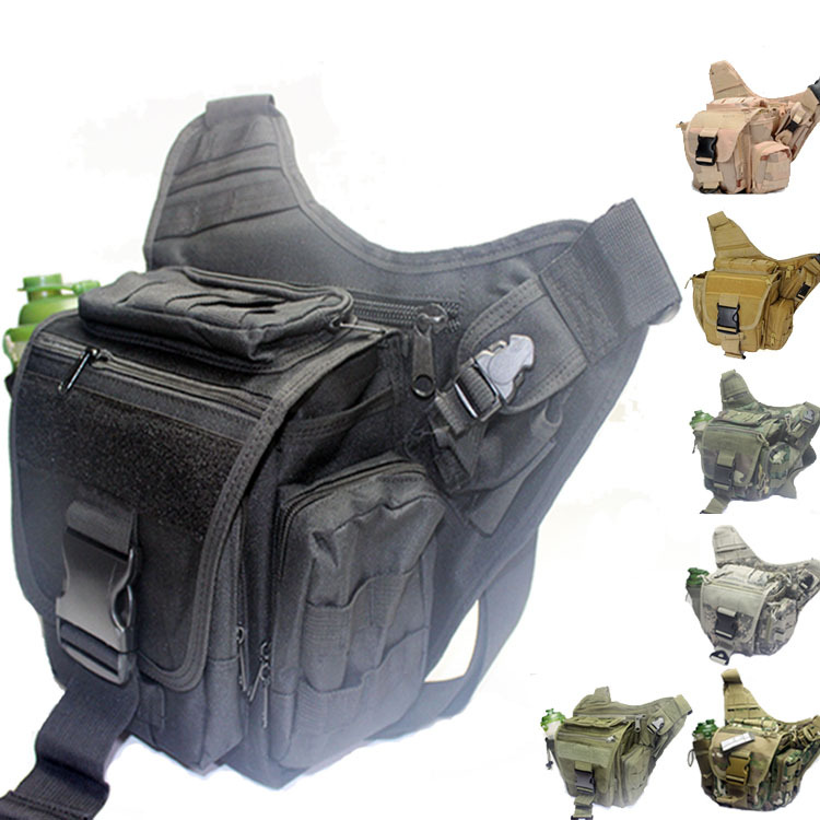 Military Tactical Molle Messenger Bags Outdoor Camping Travel Hiking Maintaineering Camera Bag(China (Mainland))