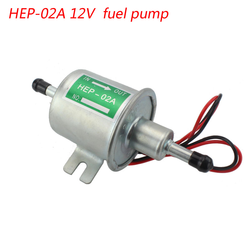 Electric fuel pump Universal Car 12V diesel petro gasoline fuel pump fuel supply low pressure HEP-02A fuel pump types 12V sliver(China (Mainland))