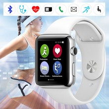 Hot Selling IWO 1:1 Smart Watch MTK2502C MO Smart Watch for iOS iPhone Samsung Android Phones Bluetooth 4.0 Heart Rate Sensor