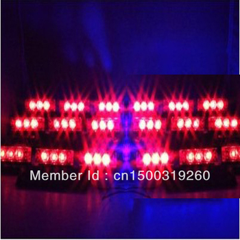 Free Shipping RED 54 LEDs Car Vehicle Auto Strobe Flash Emergency Lights for Front Grille/ Deck DC 12V