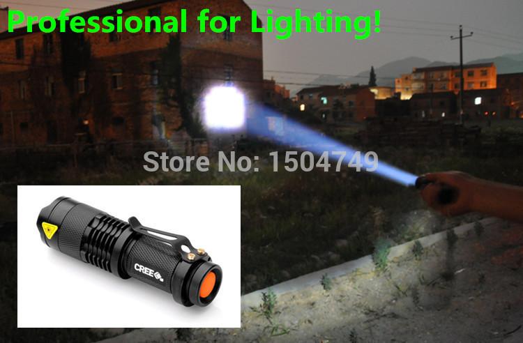 Professional LED Flashlight Supplier! High quality lantern Torch light mini LED Flashlight Zoomable Penlight Lanterna(China (Mainland))