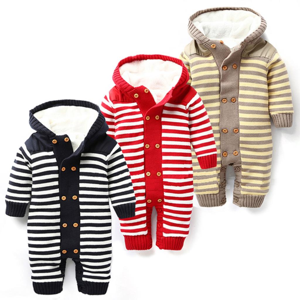 Winter Baby Clothing Plus Velvet Warm Newborn Baby Rompers Brand Hooded Baby Boys Clothes Infant Costume Baby Girls Jumpsuit(China (Mainland))