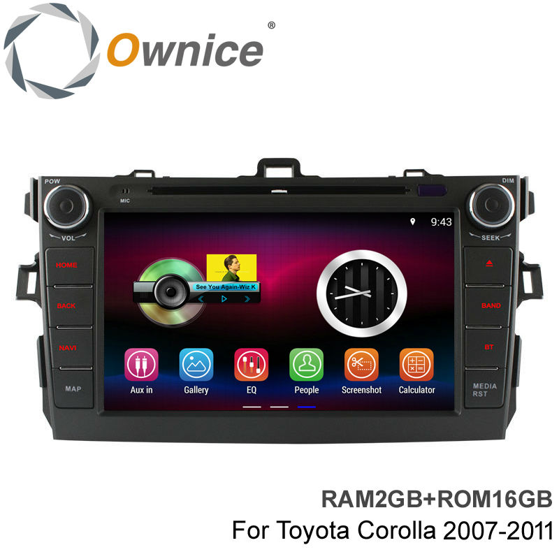 Ownice C200 1024*600 Pixel 8'' Quad Core RAM 2GB ROM 16GB Android 4.4 Car DVD Video Player for Toyota Corolla 2006-2011(China (Mainland))