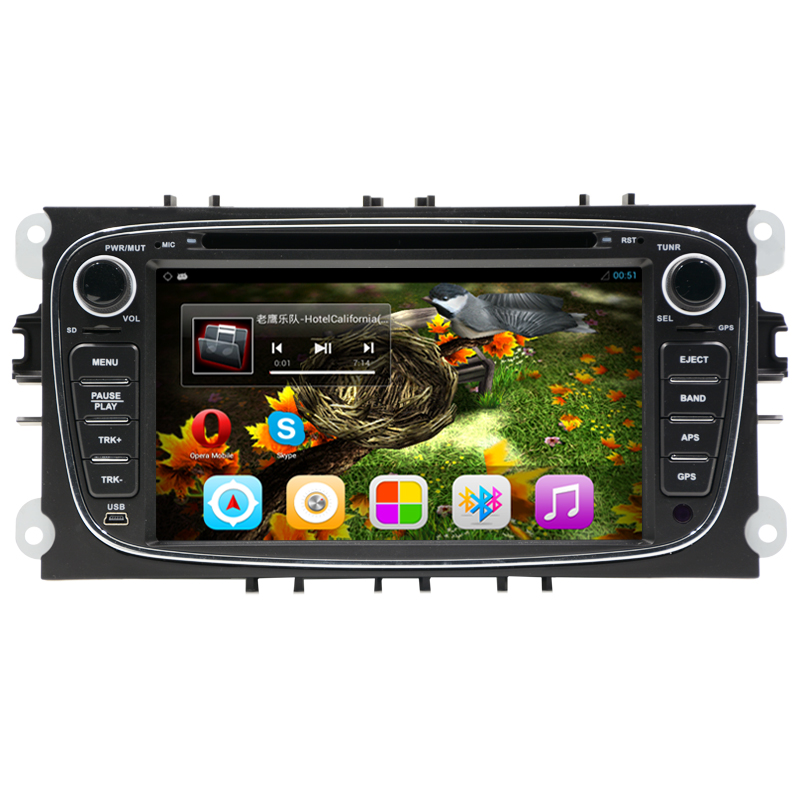 "Android 5.1 Quad core 2 Din 7"" Car DVD Player For FORD/FOCUS 2 /MONDEO/S-MAX/CONNECT 2008 2009 2010 2011 head unit Car GPS Radio(China (Mainland))"