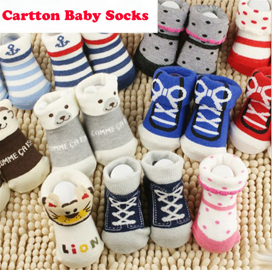 Hot Skidproof Kids Socks Baby New Born Boy Girl Casual Winter Meias Infantil Baby Slippers Anti Slip Floor Children Cartton Sock(China (Mainland))