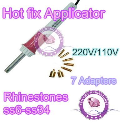 white color Hot Fix Hotfix rhinestone Applicator Wand irons on guns garment accessories DIY heat fix tools(China (Mainland))
