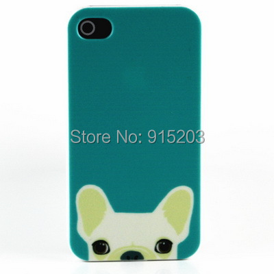 Lovely Dog Animal Cover for Apple iPhone iphone4s iphone4 4g iPhone 4 4s Hard Case New Arrival 1 Piece Cheap Factory Price(China (Mainland))