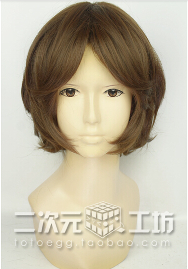 Newest! Shigatsu wa Kimi no Uso(Your Lie In April) Tsubaki Sawabe Girl brown short Cosplay Wig Cos Wig Spot! Free Shipping! <br><br>Aliexpress