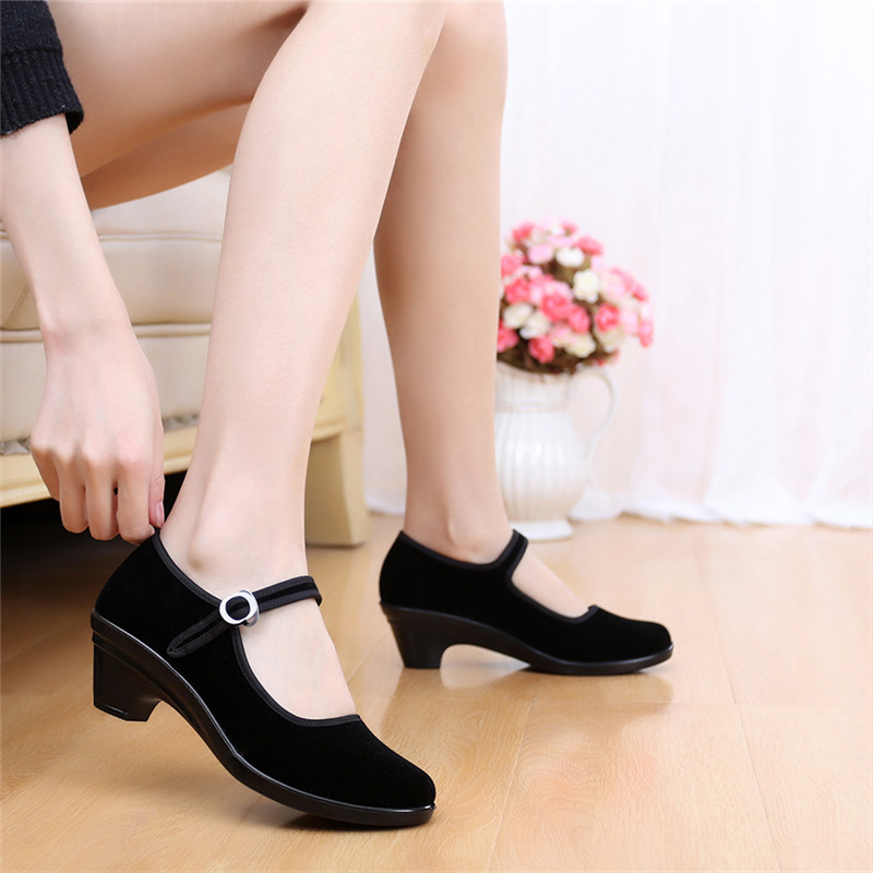 Authentic old Beijing shoes shoes black shoes shoes Yingbin Hotel etiquette dance shoes with soft soled shoes<br><br>Aliexpress