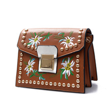 Buy Vintage Rivet Floral Embroidered Handbags Leather Bags Women Purse Ethnic Embroidery Bag Small Shoulder Women Messenger Bags for $14.06 in AliExpress store