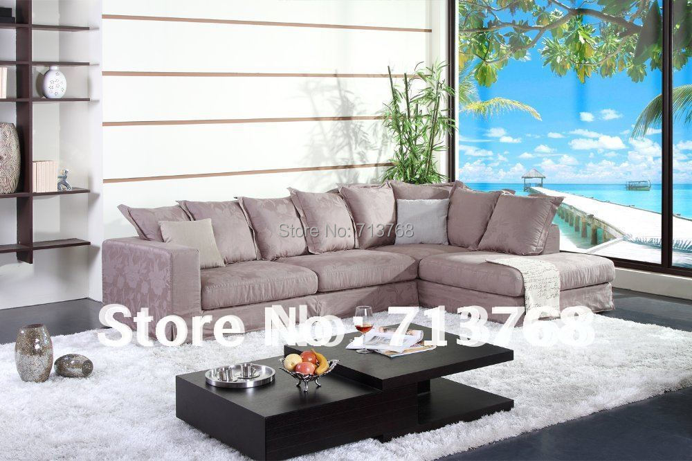 100%cotton Washable fabric Modern furniture couch / living room fabric sectional / corner sofa MCNO9051(China (Mainland))