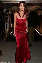 2016 Sexy Celebrity Grammy Awards Red Carpet vestidos noche Selena Gomez cabestro satén Party largo Prom vestidos(China (Mainland))