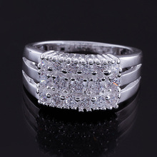 Wholesale 925 Silver Jewelry Ring Fine Fashion Silver Plated Zircon Leaf Women&Men Finger Ring Top Quality JZ5514