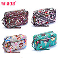 Vivisecret Brand new Lovely flower print Coin Purses Small for Women Wallets Clutch Bag Phone Bag