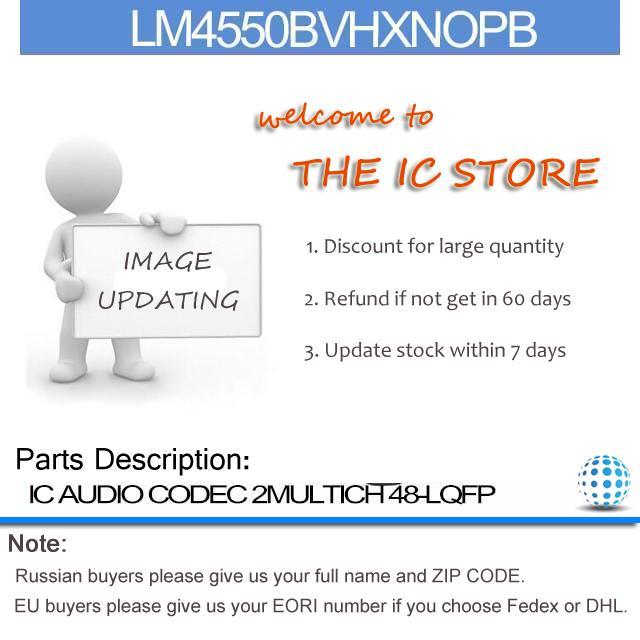 LM4550BVHXNOPB IC AUDIO CODEC 2MULTICH 48-LQFP LM4550BVHXNO 4550 LM4550BVH 4550B LM4550B 4550BV(China (Mainland))