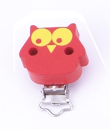 wholesael 50pcs one lot  red owls shape baby pacifier clips<br><br>Aliexpress