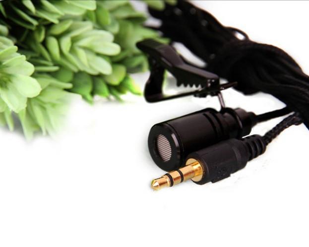 Hand-free Lavalier mini wired Super Lapel tie clip dual channel microphone 3.5mm plug PC Computer Laptop - E-PARTS STORE store