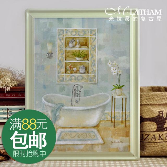 For dec  orative painting vintage metal painting derlook muons bath