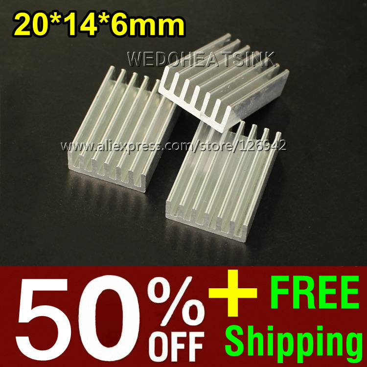 Здесь можно купить  Free Shipping 100Pcs/Lot 25*22*9.5 mm Extrusion Aluminum Heatsink For TO220 Extruded Epoxy Attach On Heat Sink  Компьютер & сеть