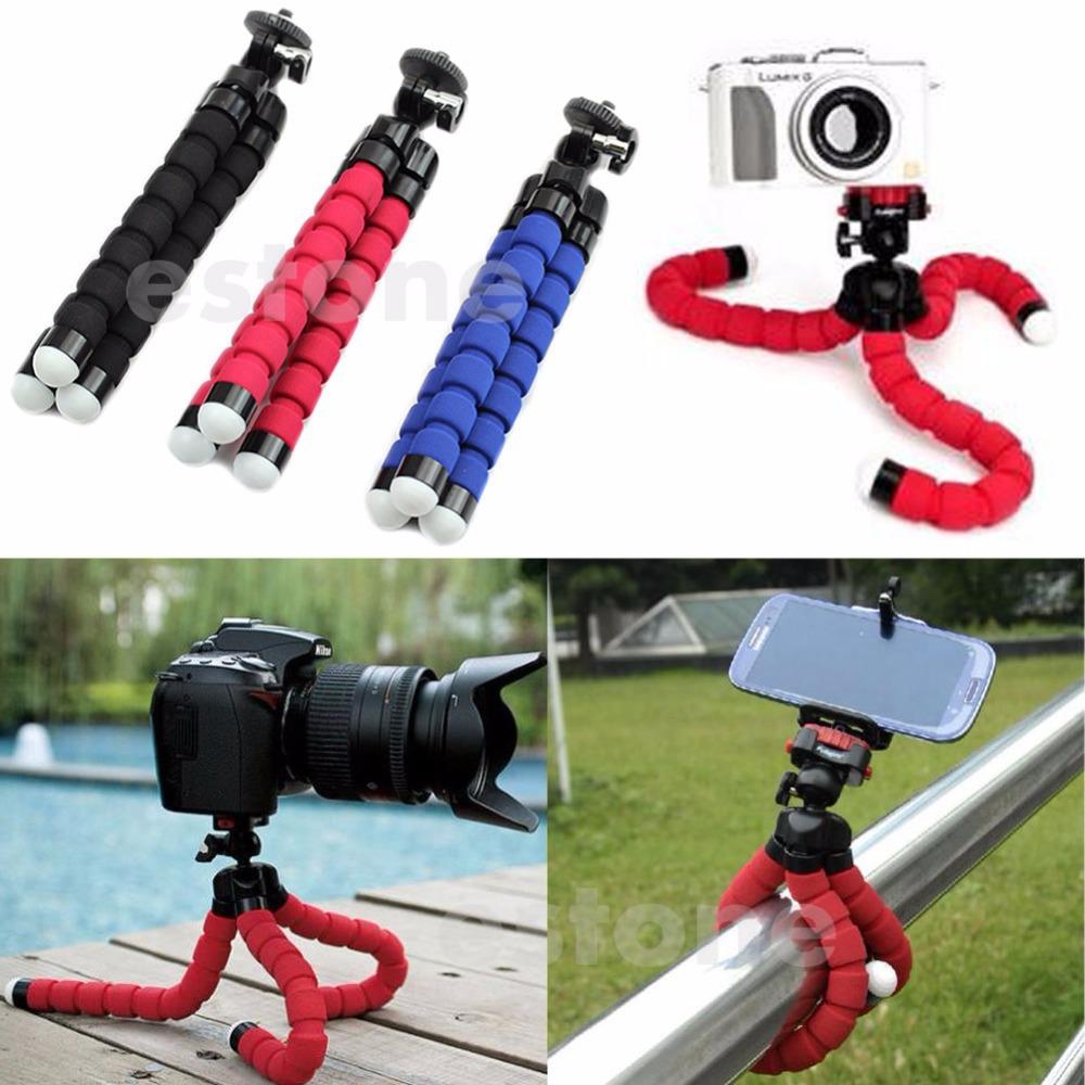 Free shipping Octopus Flexible Mini Tripod Holder Mount for GoPro Hero 3 3+ 4 Compact Camera(China (Mainland))