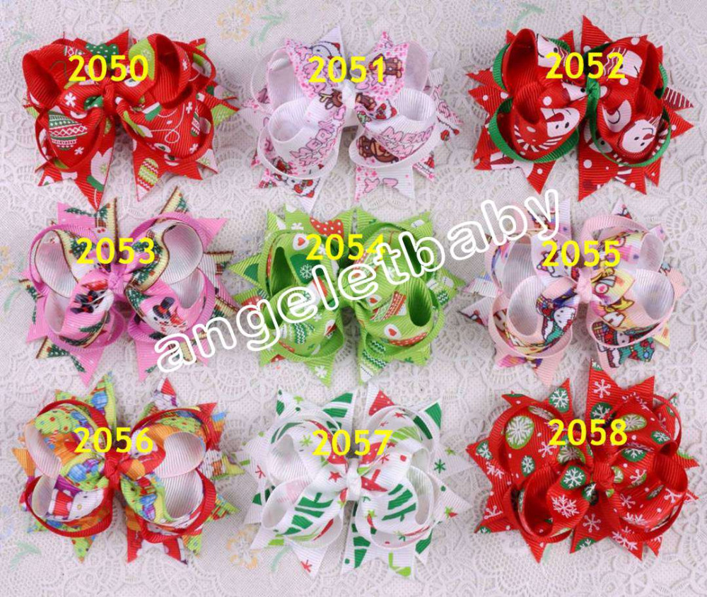 "50pcs hello kitty Winnie Minnie snow white cartoon Tinker Bell Cinderella 3"" hair accessories bow alligator hair clip HD3271(China (Mainland))"