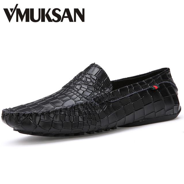 Размер 38 - 43 новых мужские туфли черный крокодил социальных обувь мужская шипами ...