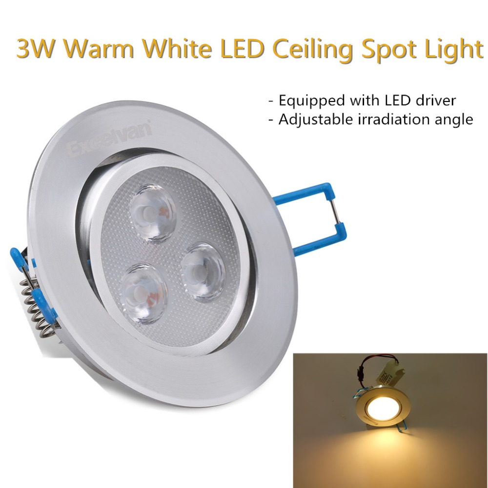 LED Spotlight 3W 5W 7W LED Recessed Cabinet Wall Spot Down Light Ceiling Lamp Cold White Warm White for Home Lighting(China (Mainland))