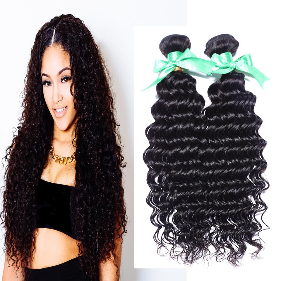 Queen hair products peruvian virgin hair deep curly 100% human hair extension peruvian deep curly 3pcs/4pcs lot free shipping