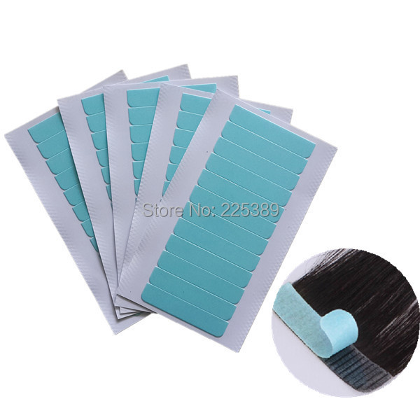 24pcs(2sheets) high quality strong hair extension tape adhesive blue super tape/double-sided hair tape,German Brand(China (Mainland))