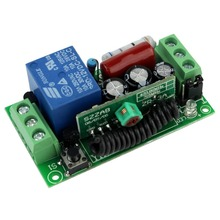 Hot 220V Single Channel RF Wireless Remote Control Receiver Relay Module Switch 315MHz Learning Code F4141A315(China (Mainland))