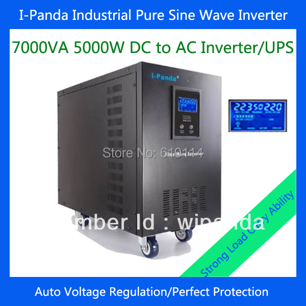 5000W inverter pure sine wave inverter frequency 5kw solar system 5000w(China (Mainland))
