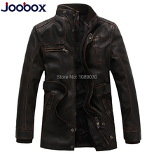 Men 2014 fashion stand collar motorcycle leather clothing men's leather jacket male PU outwears winter coat Korean leather coat(China (Mainland))