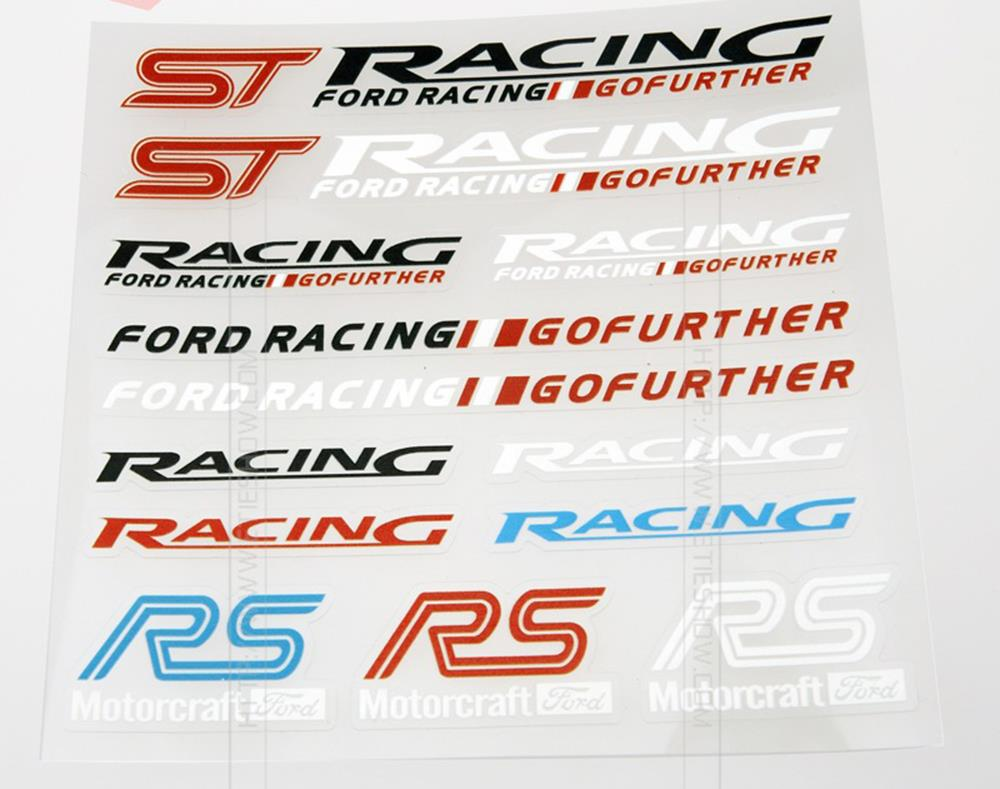 ST RS Car Styling Decal Decoration Stickers Ford Racing Fiesta Focus  -  Ecarlife Online Store store