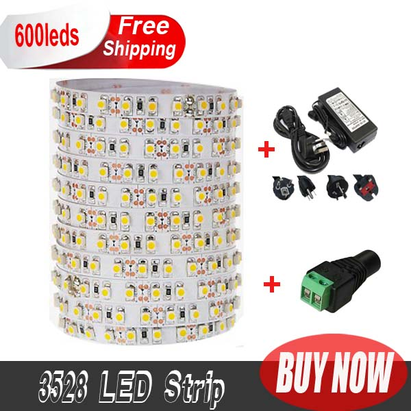 Promotion Non-waterproof led strip with driver SMD3528 5M 120leds/m DC12V/4A Flexible saving lighting string ribbon kit(China (Mainland))