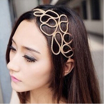 F014 European And American Popular Vintage Retro Hollow Flowers Hairband Fashion Rims Hair Accessories Head wraps(China (Mainland))