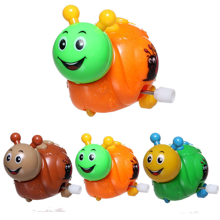 Lovely Smile Wind-up Spring insect snail Clockwork Child Kid Toy Funny fast run Gift ramdon color(China (Mainland))