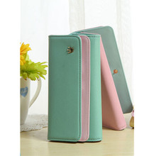 Buy Multi-Function Hit Color Casual Snap PU Women Wallet Durable Light Blue Credit Card Ticket ID Card Cash Holder Organizer Bag for $23.68 in AliExpress store