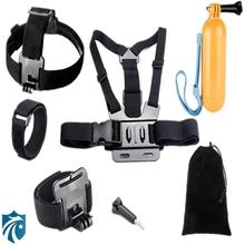 Go pro Accessories Set Helmet Harness Chest Head Mount Strap Gopro Hero 4 3+ Sj4000 Xiaomi yi action camera Black Edition GS25