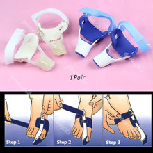 J35 Free Shipping 1Pair Bunion Splint Great Toe Straightener Foot Pain Relief Hallux Valgus