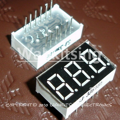 """50 PCS LD-3361BS 0.36"""" inch 3 Digit 7 Segment Red Light LED Numeric Digital Display,Common Anode(China (Mainland))"""
