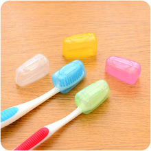 5 PCS High Quality Transparent Portable Travel Toothbrush Head Cover Case Protective Caps Health Care(China (Mainland))