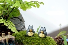 Free shipping Hot Cartoon Anime My Neighbor Totoro With Bowl umbrella aliens Action Figure Models Doll Kid Toys Gift Brinquedos(China (Mainland))