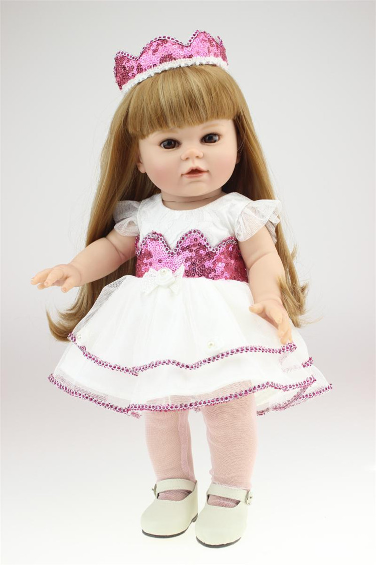 NPK 16 inch silicone American Girl Dolls baby reborn Hobbies Baby Alive Doll For Girls Toys boneca reborn