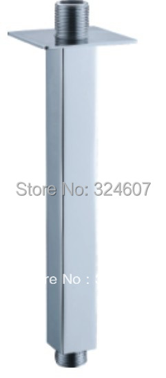 2015 Rushed New Acessorios Banho Shower Roller High Quality 20cm Length Square Ceiling Mounted Solid Brass Chrome Shower Arm