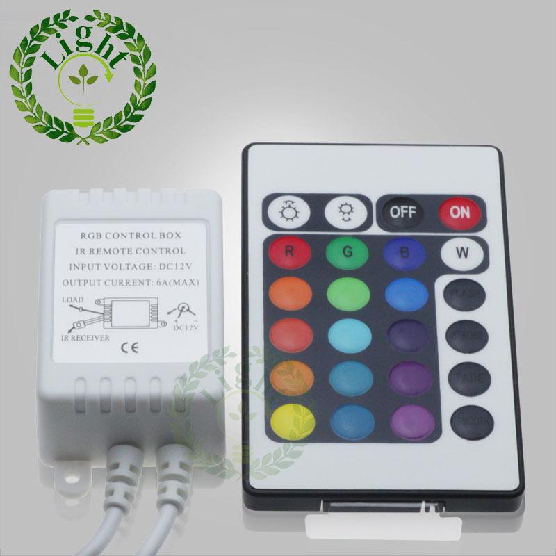 24 keys RGB LED strip controller IR remoter control mini controller for 3528 5050 RGB LED strip<br><br>Aliexpress